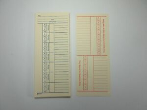 25 Time Cards Punch Employee Payroll Clock 2 Sided Adams 9664a New
