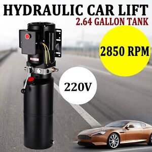 New Car Lift Auto Repair Shop Hydraulic Power Unit 220v 60hz Pump Vehicle Hoist