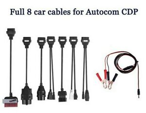 Full 8pcs Car Cables Works With Autocom Cdp Tcs Ds 150 150e Car Cable Connectors