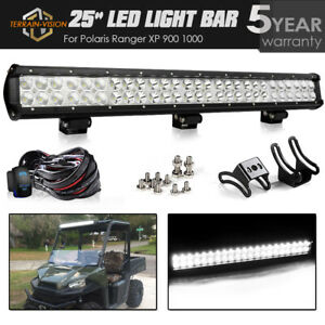 25 Inch Led Light Bar Offroad Roof Wiring For Polaris Rzr 570 800 900 Xp1000
