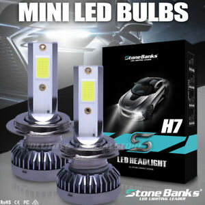 H7 Mini Size Led Headlight Bulb Kit Hi Lo Beam 100w 12000lm Car Light Lamp 6000k