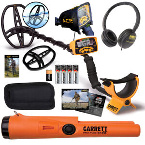 Garrett Ace 400 Metal Detector With Headphones Propointer At Free Accessories