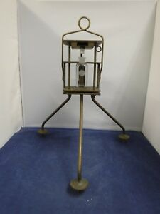 Early Rare And Unusual Brass Scientific Water Depth Sampling Device Ocean