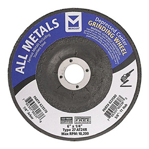 Mercer Industries 623570 Type 27 Depressed Center Grinding Wheel For All 6 X X