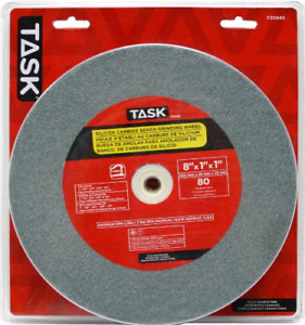 Task Tools T35945 8 inch By 1 inch Silicon Carbide Bench Grinding Wheel 80