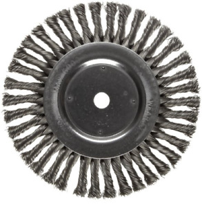 Weiler Dualife Wire Wheel Brush Round Hole Steel Full Twist Knotted 8 Wire