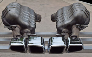 Mercedes Amg Oem Factory Left Right Exhaust Mufflers 2010 2011 W212 E63 V8 Sedan
