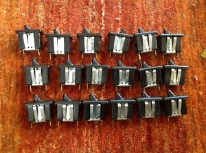 Carling Black On off Toggle Switch 20a 125v 10a 250v 1 2 Hp Vintage Lot Of 18