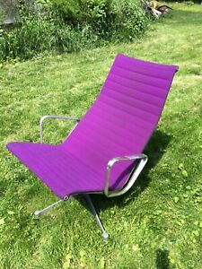 Eames Herman Miller Aluminum Group Lounge Rare Purple Chair Mid Century Modern