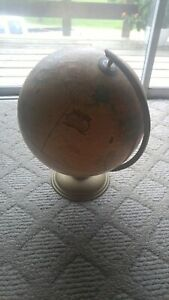 Cram S Imperial World Globe 12 Vintage With Metal Base