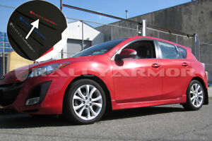 Rally Armor Ur Mud Flaps Black With Red Logo 2010 Mazda3 speed3