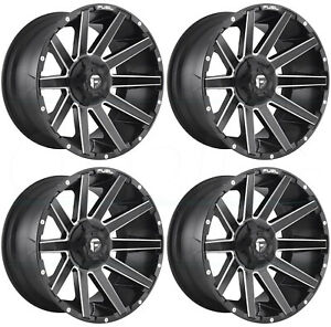22x10 Fuel Contra D616 5x5 5 5x150 18 Matte Black Milled Wheels Rims Set 4