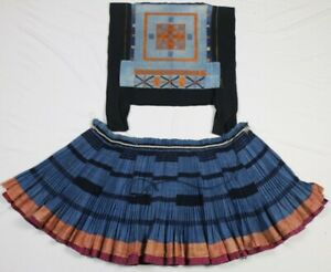 Chinese Miao S Old Hand Embroidery Batik Jacket Skirt One Set Costume Cloth
