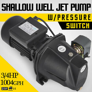 3 4 Hp Shallow Well Jet Pump W Pressure Switch 115 230v Dual Voltage Ul