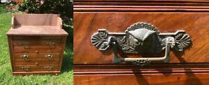 Antique Victorian Eastlake Marble Washstand 6 Rare Owl Drawer Handles