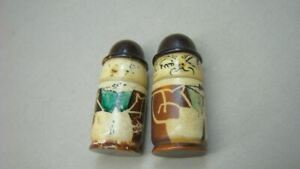 2 Vintage Sewing Thimble Or Needle Holders Man W Hat Lot