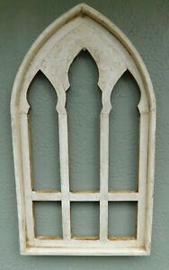 Wooden Antique Style Church Window Frame Primitive Wood Gothic 30 1 4 Shabby