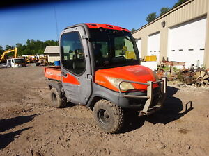 Kubota Rtv1100 4x4 Utility Vehicle Runs Nice Rtv 1100 Full Cab Heat A c Radio