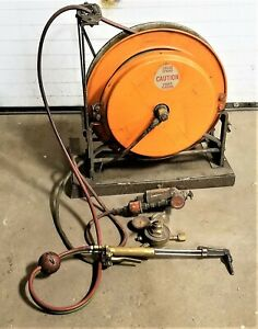 Hannay Oxy acetylene Dual Hose Spring Rewind Hose Reel With Torch