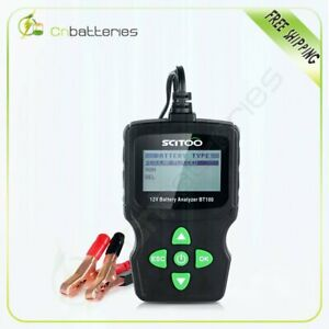 6v 12v Lcd Vehicle Car Digital Battery Test Analyzer Diagnostic Tool New Bt100