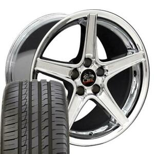18 Wheel Fit Ford Mustang Saleen Style Chrome Rims Ironman