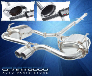 For 02 06 Mini Cooper S R53 Stainless Catback Exhaust System Piping 2 5 Tip