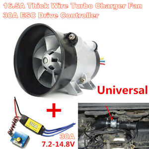 16 5a Thick Wire Car Electric Turbine Power Turbo Charger Tan Boost With 30a Esc