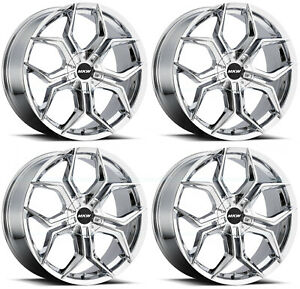 20x8 5 Mkw M121 5x112 5x114 3 35 Chrome Wheels Rims Set 4