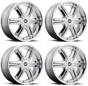 22x9 5 Mkw A612 5x114 3 5x120 35 Chrome Wheels Rims Set 4