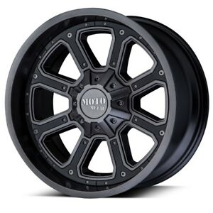 20 Inch Black Grey Wheels Rims Chevy 5 Lug Truck Lifted Jeep Wrangler Jk Mo984
