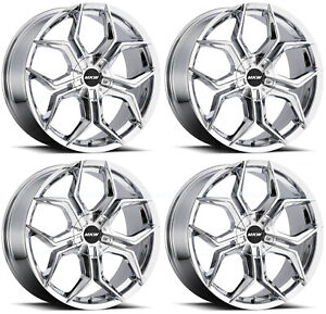 20x8 5 Mkw M121 5x110 5x115 35 Chrome Wheels Rims Set 4