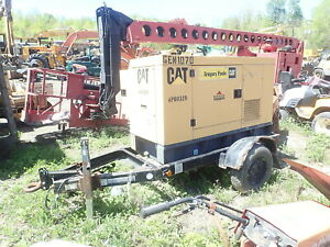 Caterpillar Xq20 Diesel Generator Genset Trailer Runs Good Xq 20 20 Kw Perkins