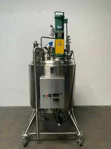 Holloway 500 Liter Stainless Steel Jacketed Reactor 30 Psi W Agitator