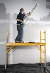 6 Foot Multi Purpose Scaffolding Drywall Painting Construction Ladder Platform