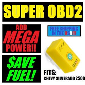 Chevy Silverado 2500 Hd 6 0l 6 2l 7 4l 8 1 Super Obd2 Performance Chip Add Power