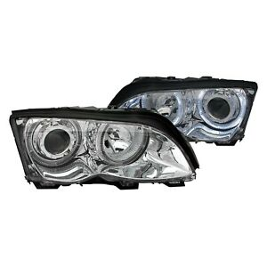 For Bmw 325xi 2002 2005 Anzo 121212 Chrome Led Halo Projector Headlights