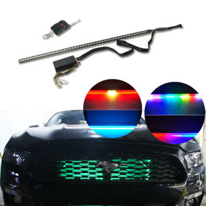 7 Color Rgb Led Knight Rider Scanner Strip Lights For Ford Mustang Under Hood