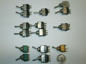 Mil spec Toggle Switch Assortment 6 Types Choice 1 Each Used Good