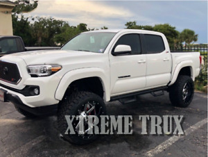 Black Paintable Smooth Extended Fender Flares Fits 16 19 Toyota Tacoma Set 4