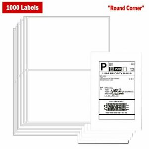 1000 Shipping Mailing Labels 8 5 x5 5 Half Sheet Self Adhesive Blank White Fast