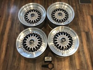 Mercedes Bbs Rs289 Rs290 Wheels Staggered Set 5x112 Bbs Rs 18 Inch Rare