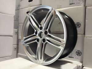 20 Silver Audi Rs6 Rs4 Wheels Rims Vw Rabbit Tiguan Q5 5x112 5 Lug