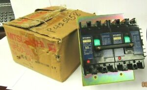 Mitsubishi Nf50 ss No fuse Double Breaker With Shunt 50 Amp 6 Pole New In Box