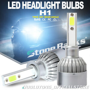 2pcs H1 Led Headlight Bulbs Kit High Beam Fog Light 8000k Blue 100w 20000lm Lamp