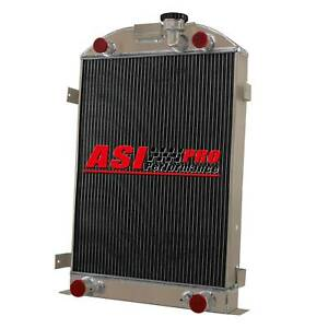 4 Row Aluminum Radiator For 1935 1936 Ford Model a Flathead 28 height 60mm Pro