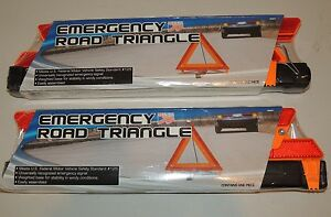 New Auto Truck Emergency Reflective Road Safety Triangle Sign 2 Ea Usa