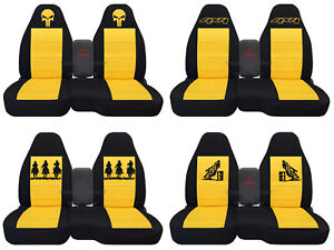 Fits Ford Ranger Truck Car Seat Covers 60 40 Console Not Included Blk Yellow