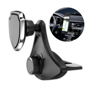 360 Rotating Cd Slot Car Mount Holder Stand Magnetic For Cell Phone Accessory