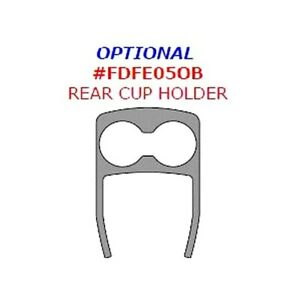 For Ford Taurus X 08 09 Remin Aluminum Rear Cup Holder Upgrade Trim 1 Pc