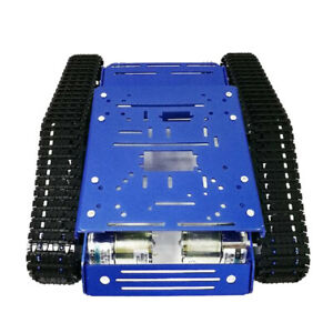Smooth Operation Metal Robot Tank Cars Chassis 12v With Code Wheel Motor